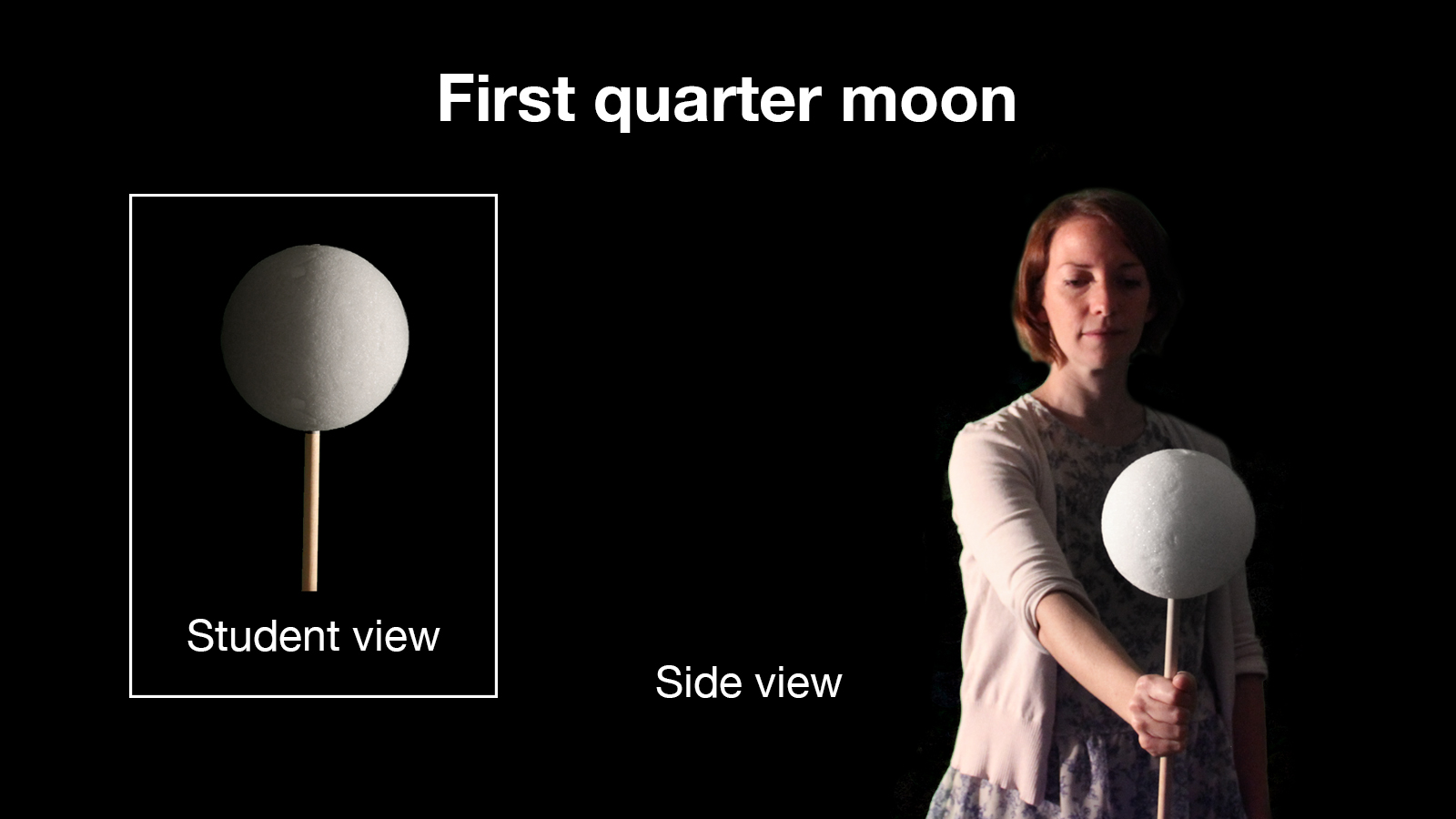 First Quarter – Moon Phases Activity from NASA-JPL Education