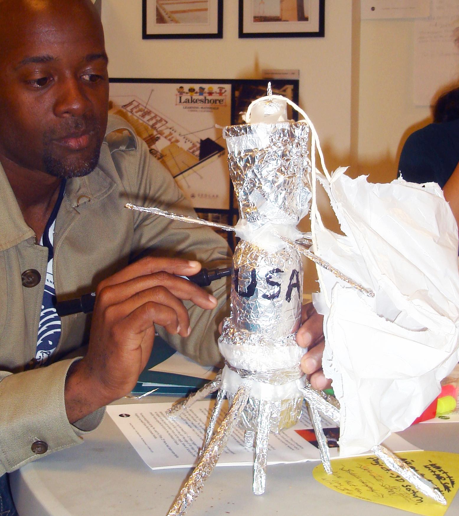 participant building Cassini model