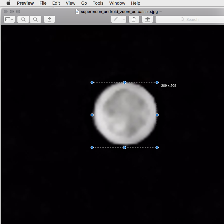 Screenshots showing how to crop an image using an on-screen pixel ruler