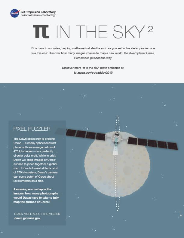 Pi in the Sky: Pixel Puzzler worksheet