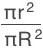 πr^2/πR^2