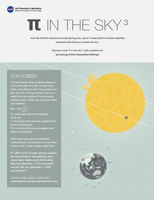 Pi in the Sky 3: Sun Screen worksheet