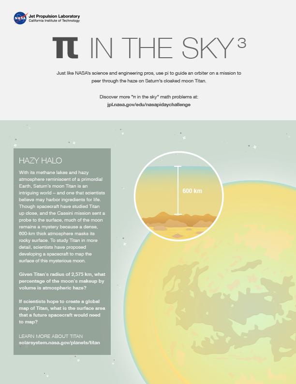 Pi in the Sky 3: Hazy Halo worksheet