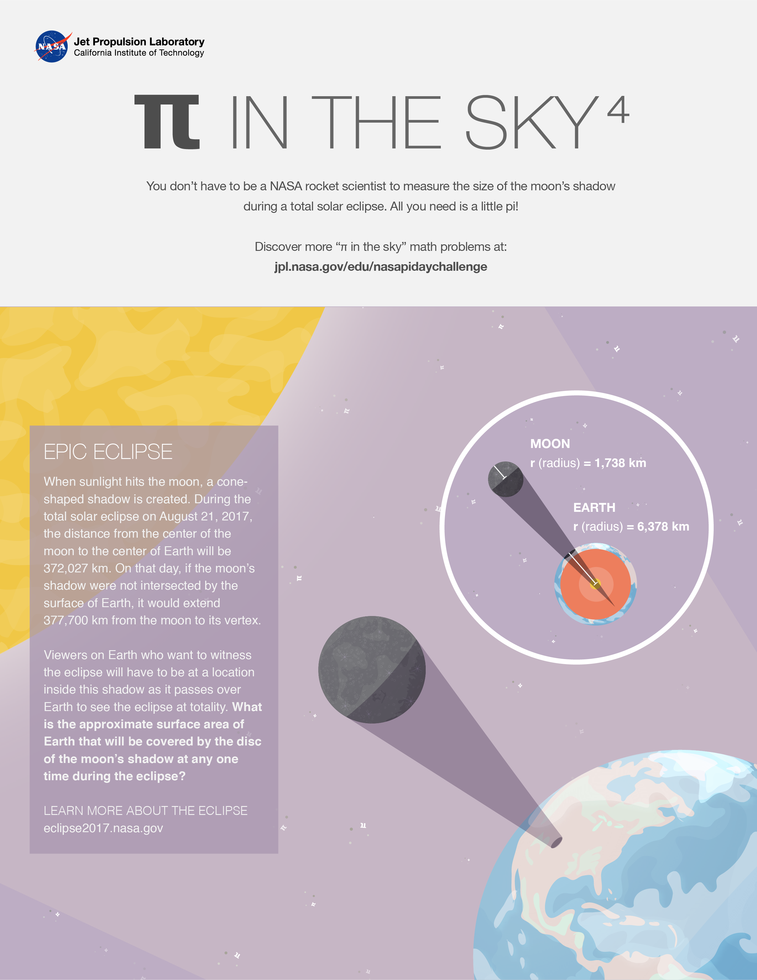 Epic Eclipse  A  Pi in the Sky  Math Challenge Activity   NASA JPL Edu 110428831f