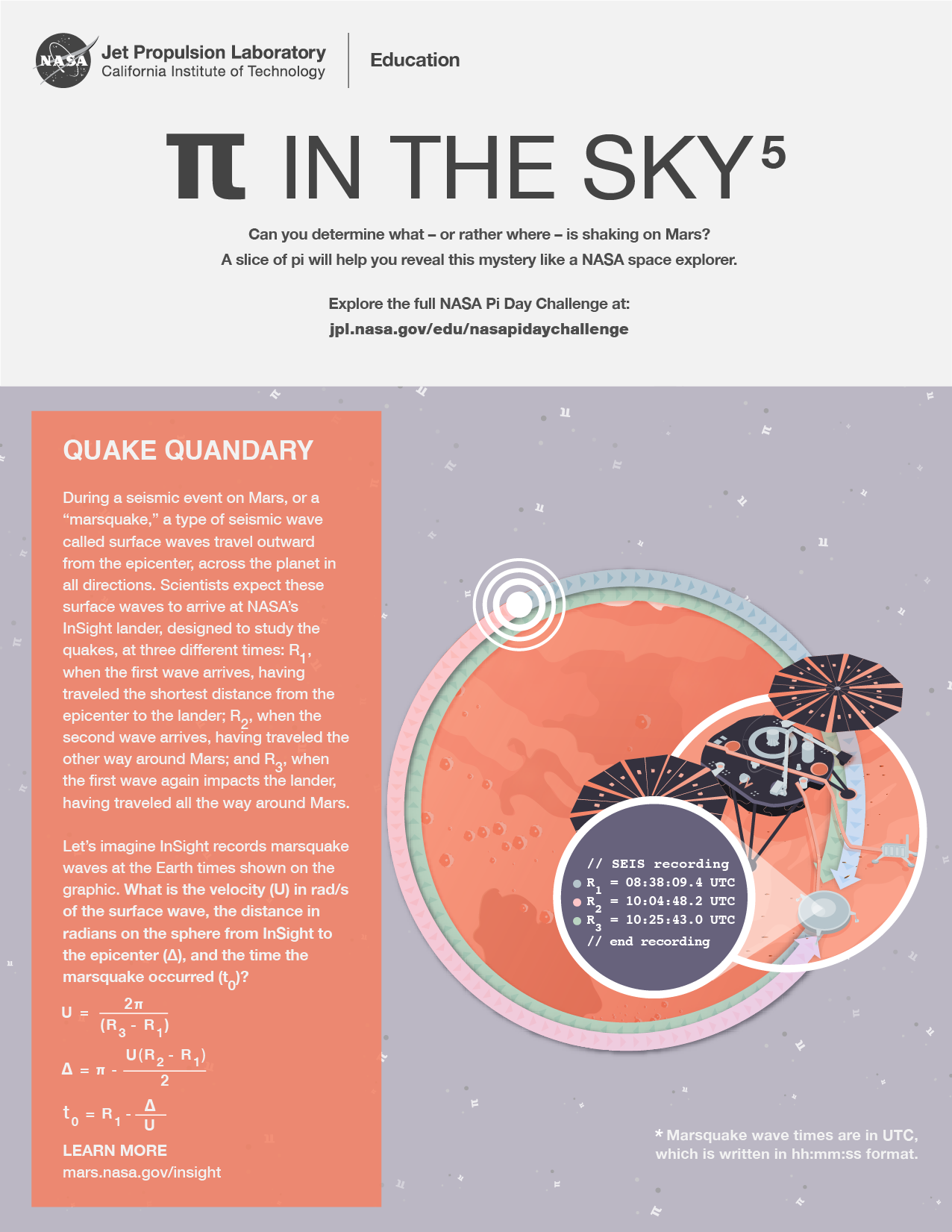 Pi in the Sky 5: Quake Quandary Handout