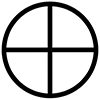 circle with a cross in the middle icon