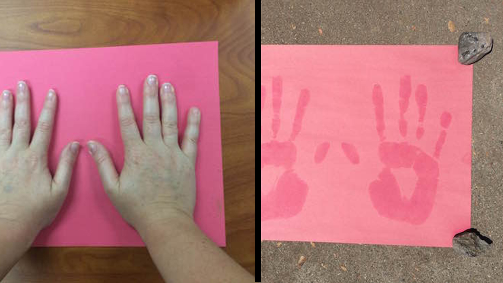 Make Handprint Art Using Ultraviolet Light!