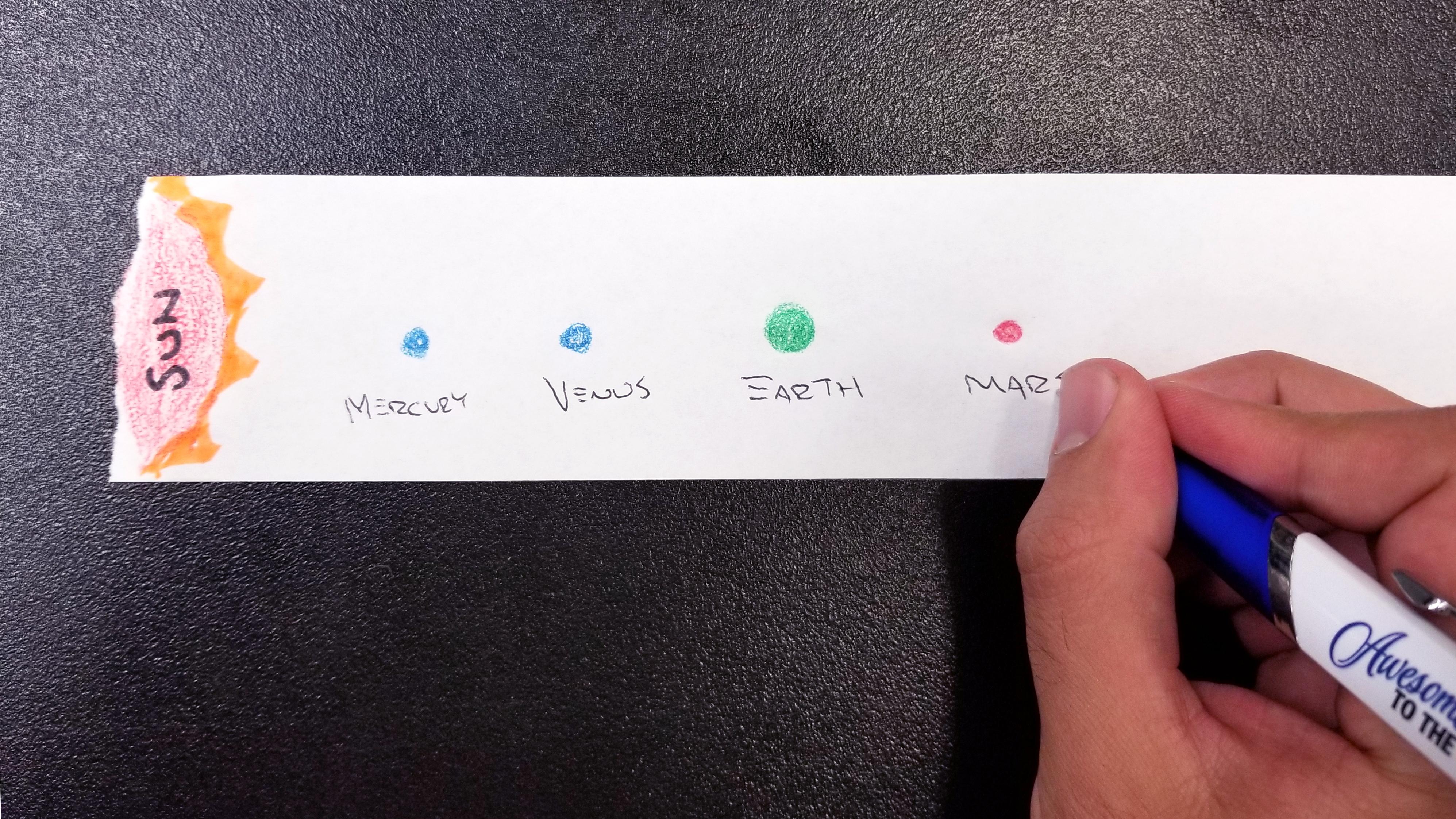 Solar System Scroll Activity - Step 2
