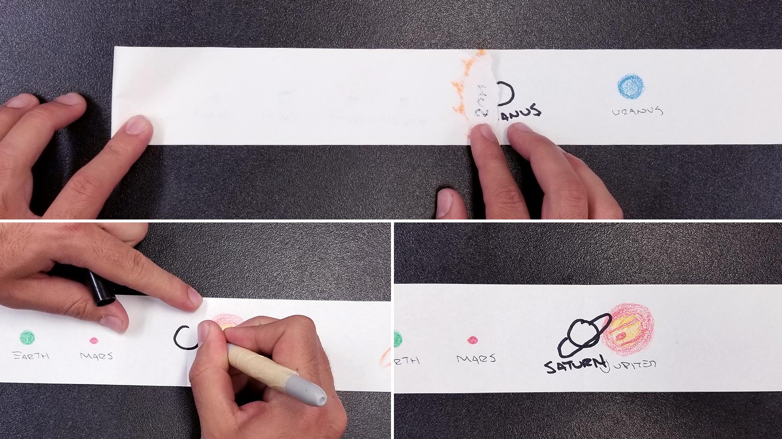 Solar System Scroll Activity - Step 4