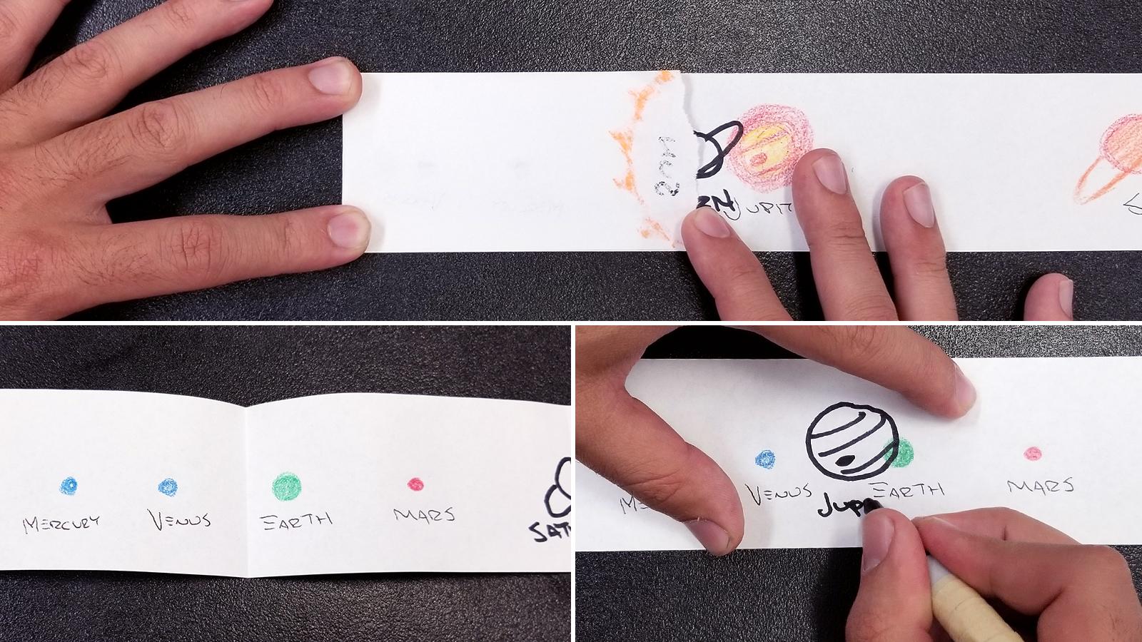 Solar System Scroll Activity - Step 6