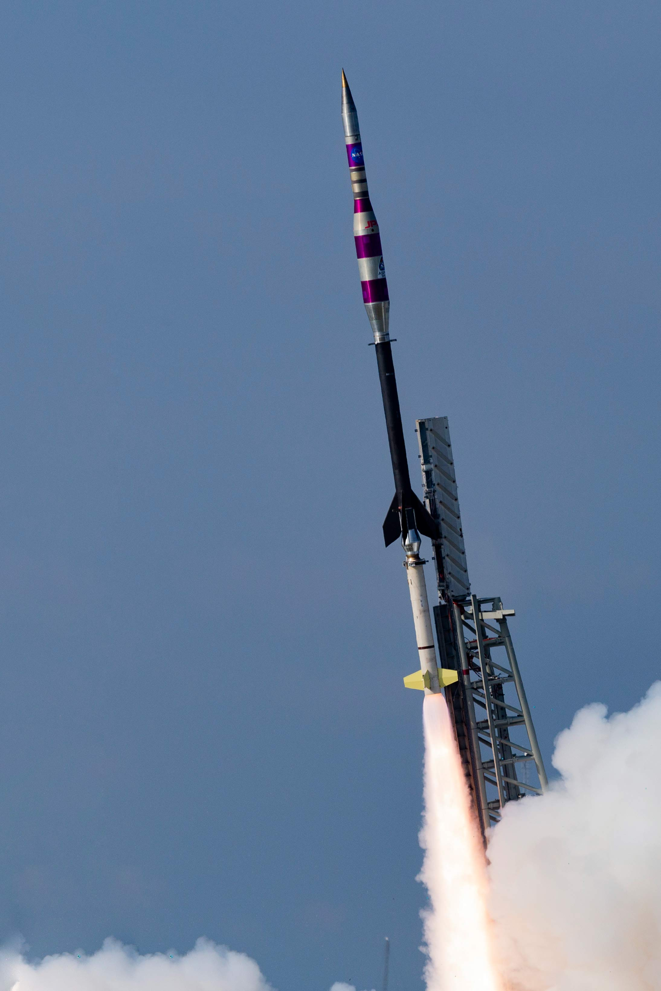 The 36.328 NR, Terrier-Black Brant sounding rocket launches from Wallops Island, Virginia, on September 7, 2018