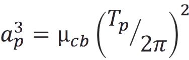 Kepler's third law formula