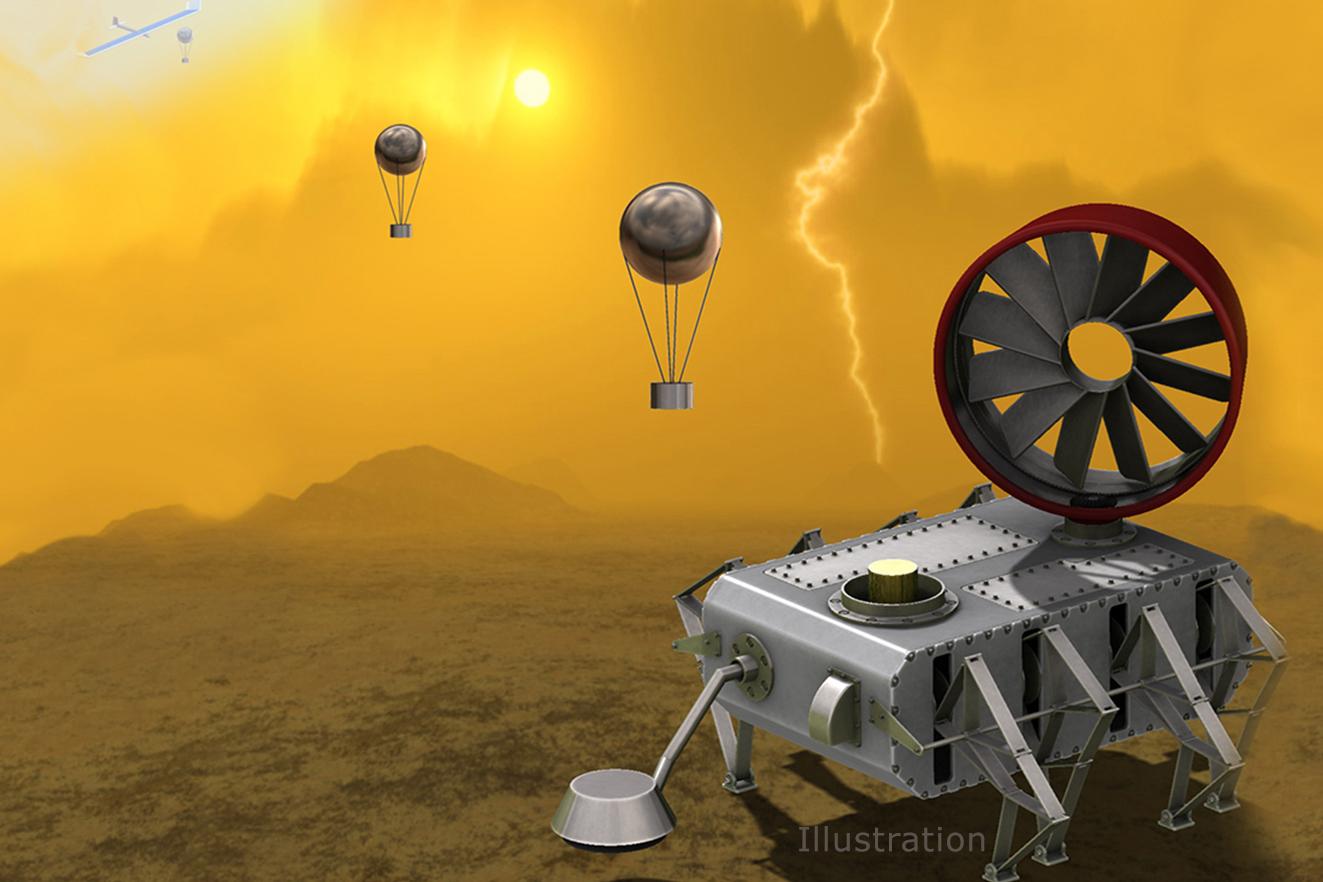 Illustration of a proposed lander for Venus