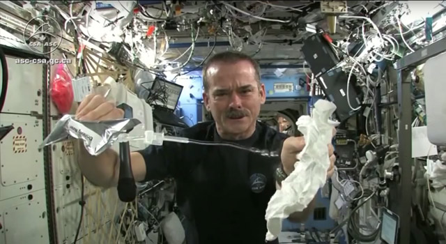 video showing how water is recycled on the International Space Station
