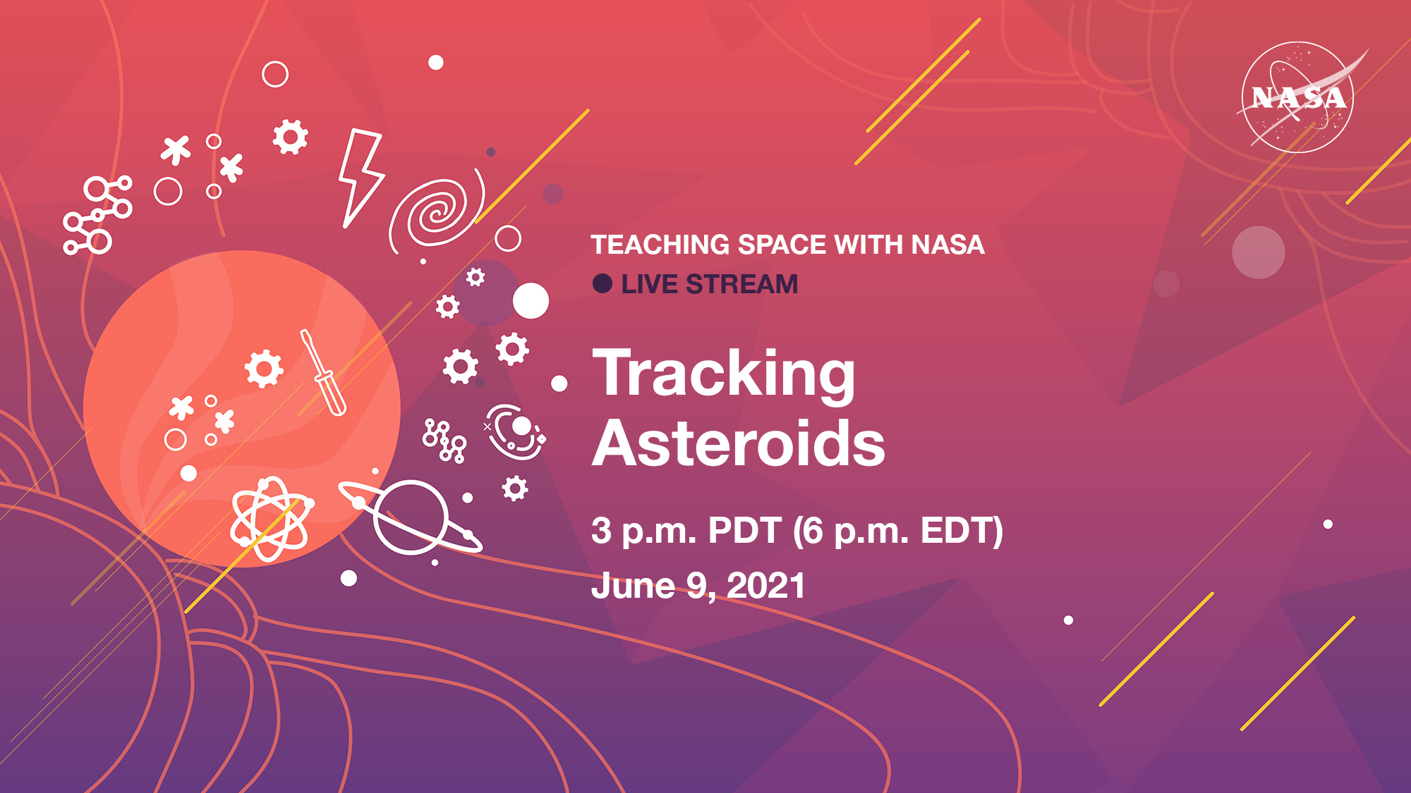 Teaching Space With NASA Live Stream – Tracking Asteroids