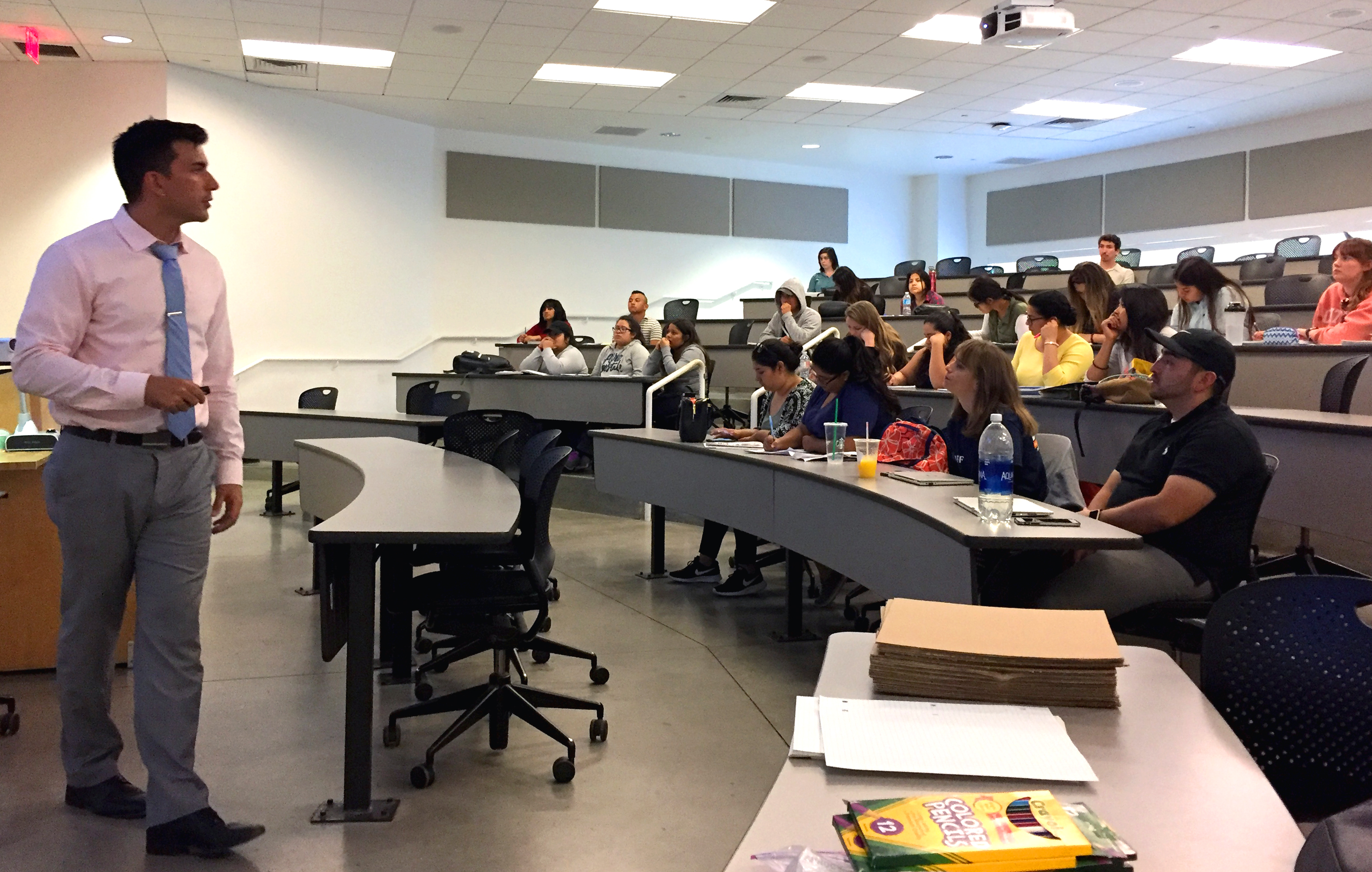 JPL's EPDC Coordinator, Brandon Rodriguez, leads an educator workshop