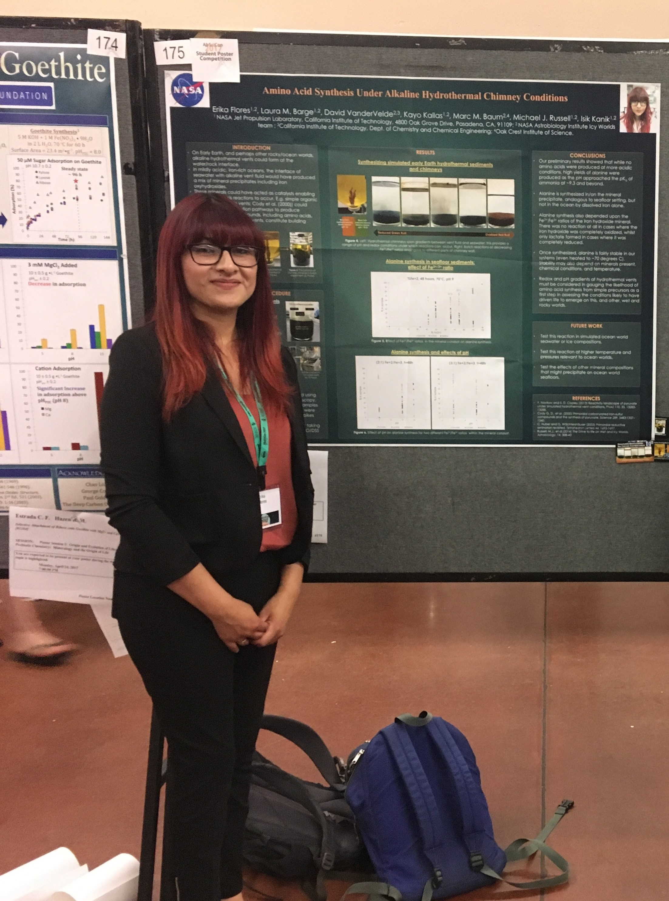Erika Flores poses with her science poster
