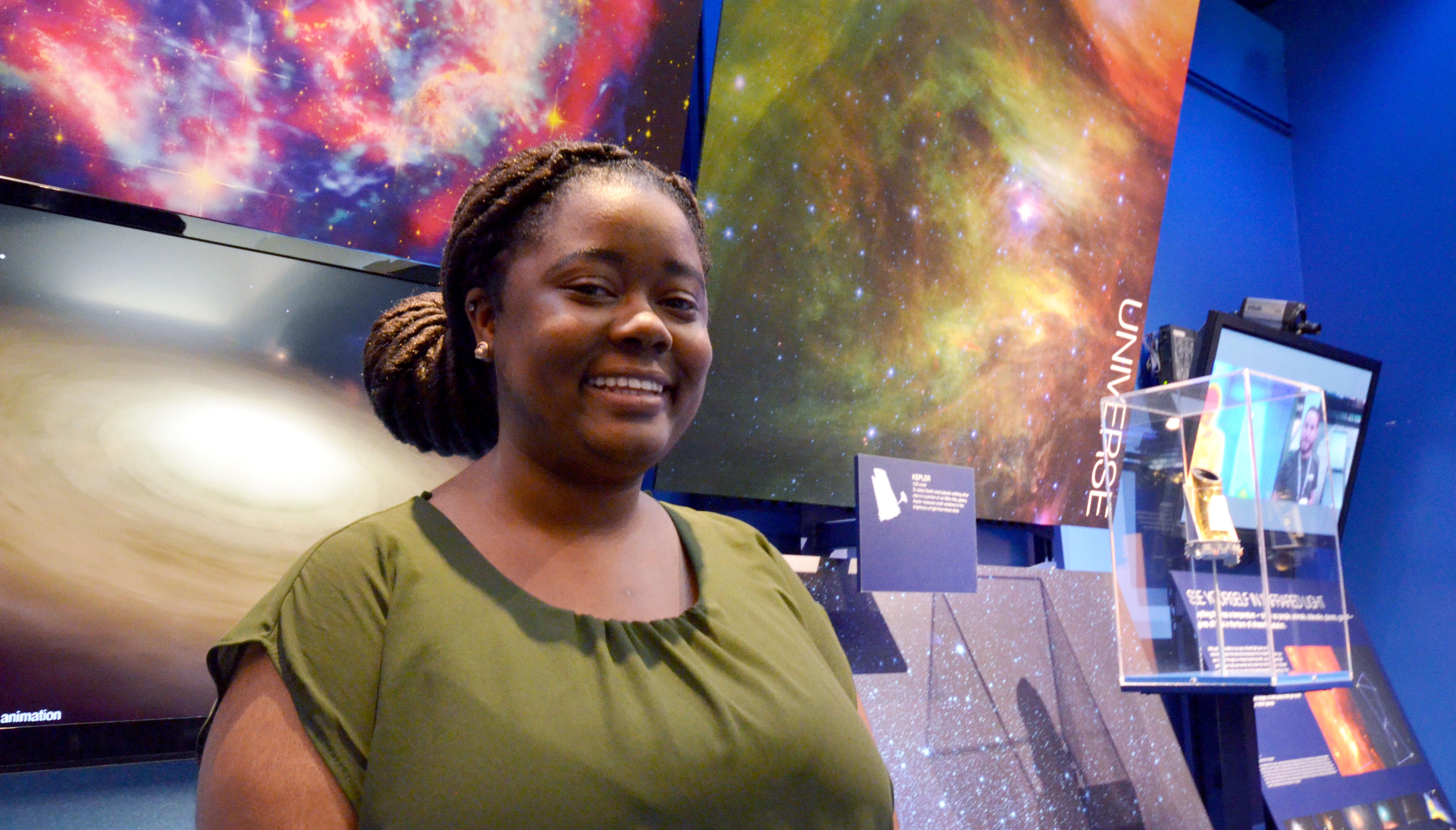 Kiana Williams at NASA's Jet Propulsion Laboratory