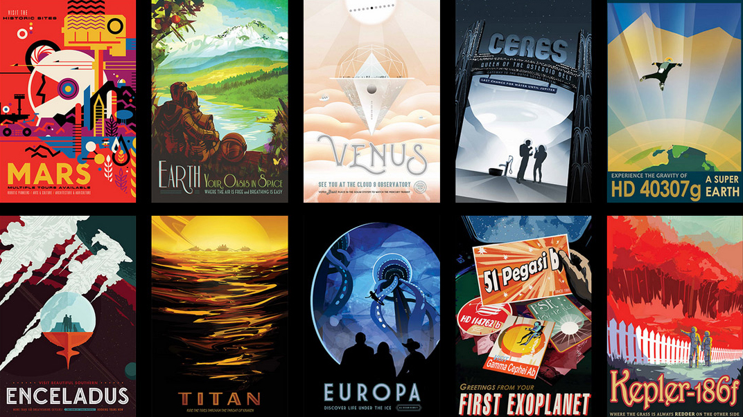 Exoplanet Space Tourism Posters