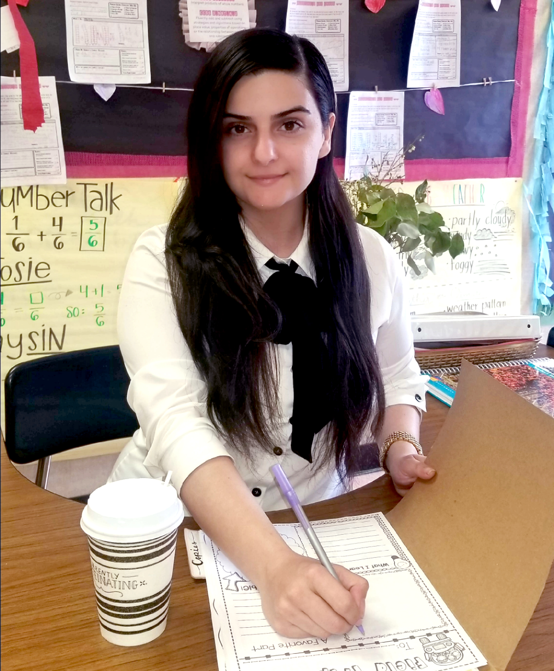 Teacher Lina Khosrovian in her classroom