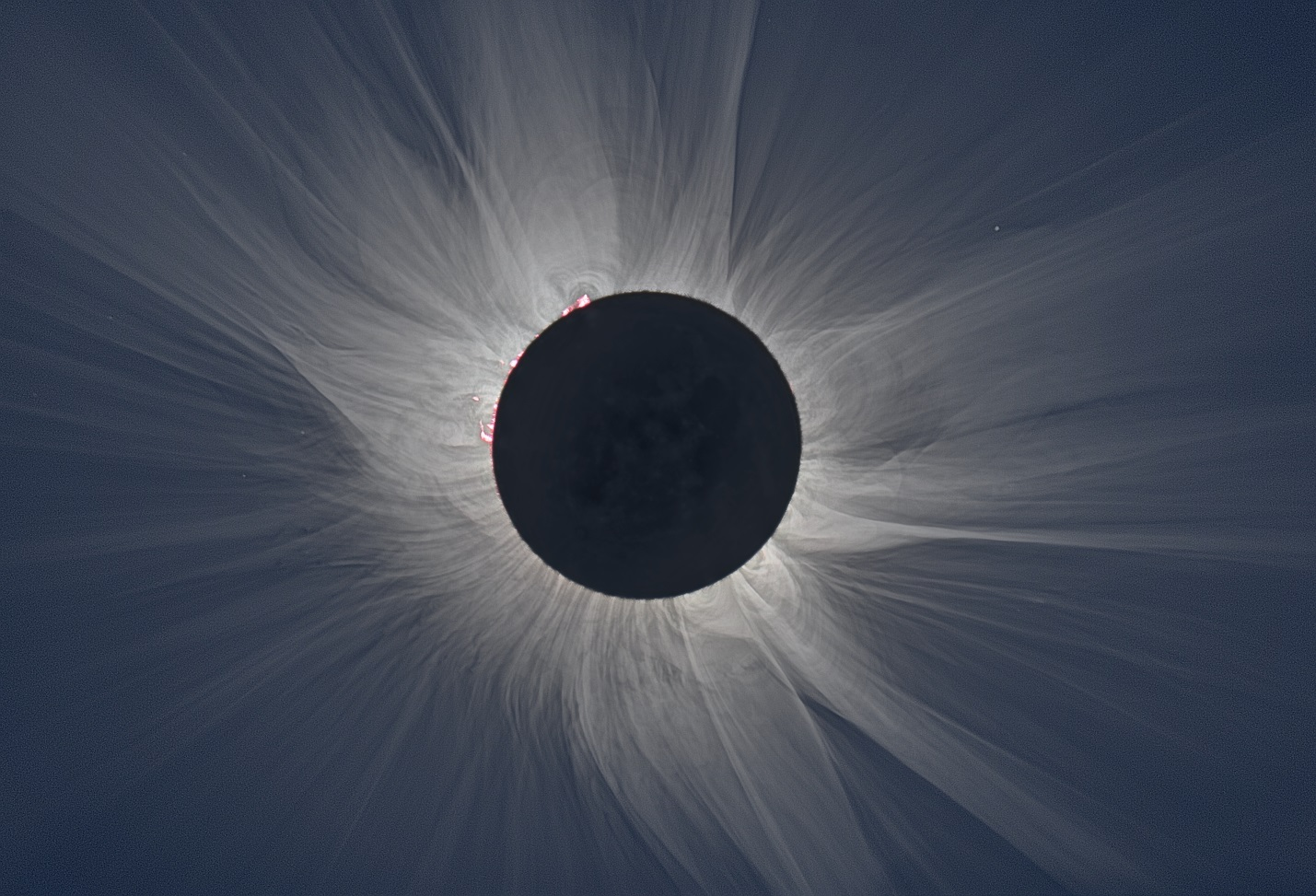 Total eclipse image taken March 20, 2015 in Svalbard, Norway. Credit: S. Habbal, M. Druckmüller and P. Aniol