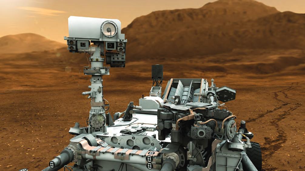 NASA JPL Edu MSL Mars Curiosity rover lithograph poster