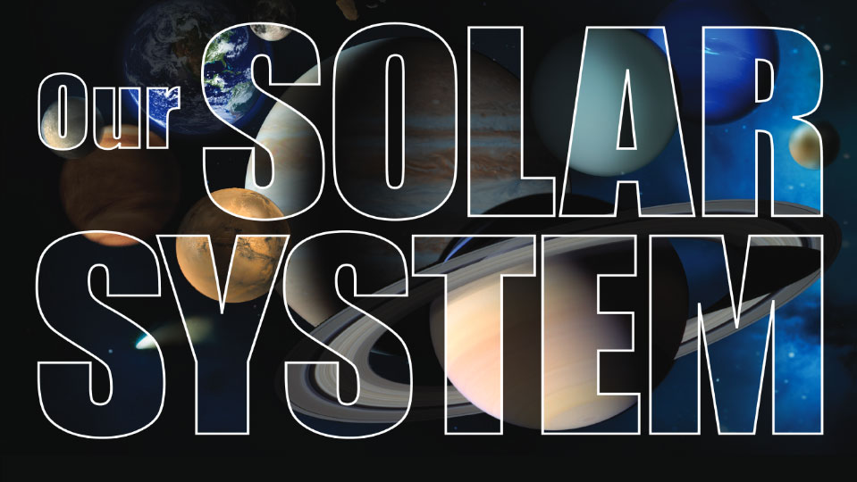 Solar System Lithograph