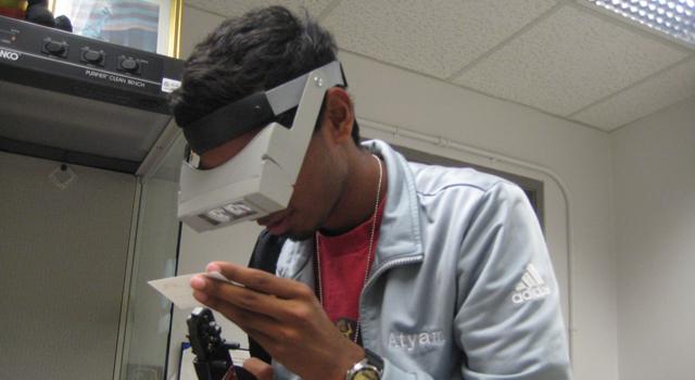 INSPIRE intern Deepak Atyam at NASA's Jet Propulsion Laboratory