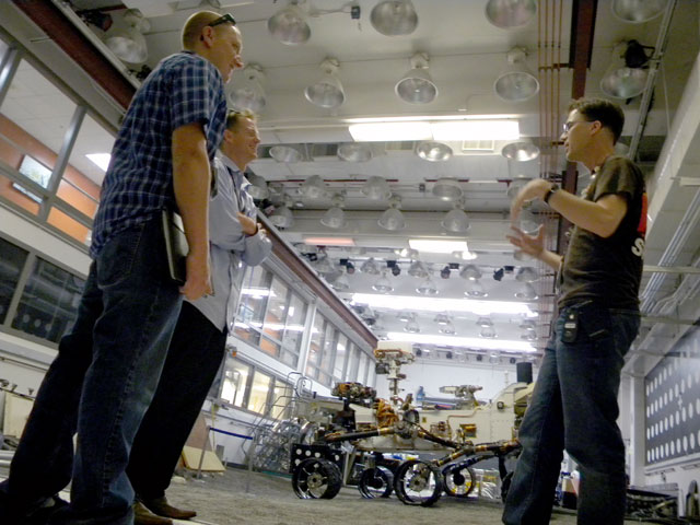 The Mars rover test-bed facility at NASA's Jet Propulsion Laboratory