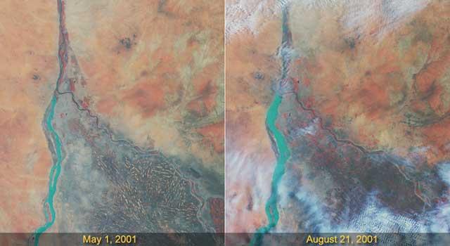 Effects of the Rainy Season Along the Nile