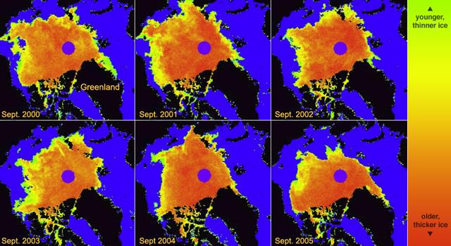 Sea Ice in the Arctic Circle
