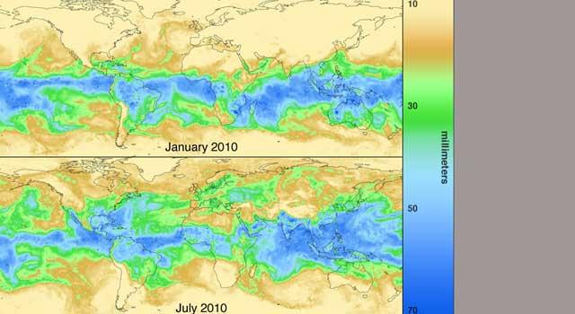 Water Vapor Around the Globe