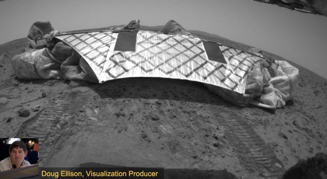 Spirit rover on Mars