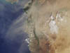 dust plume over Eastern Mediterranean