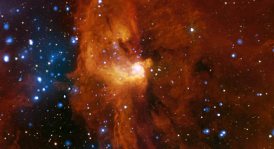 region showing active star formation