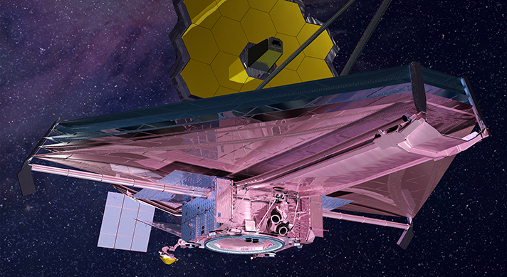 This rendering of the JWST is current to 2015.
