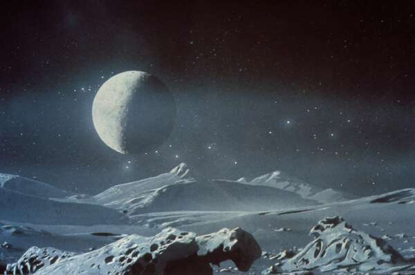 Artist's conception of Pluto and Charon