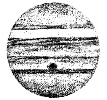 Drawing of Jupiter by Giovanni Cassini