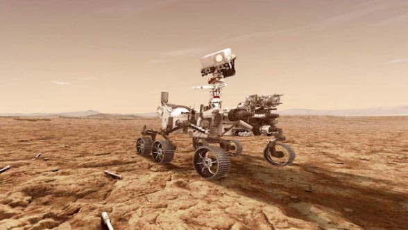 Mars 2020 Perseverance Rover, Artists Concept