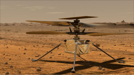 artists concept of mars helicopter