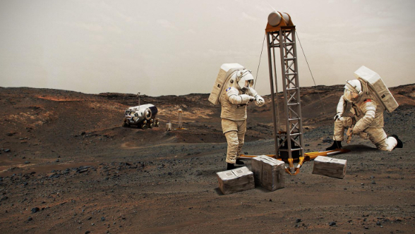 Artists concept of mars