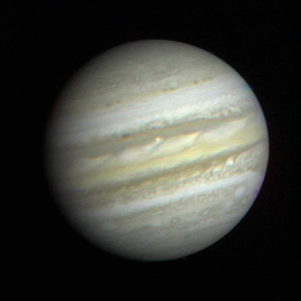 NASA'S Voyager 1 took this picture of the planet Jupiter on January 6, 1979, the first in its three-month-long, close-up investigation of the largest planet.
