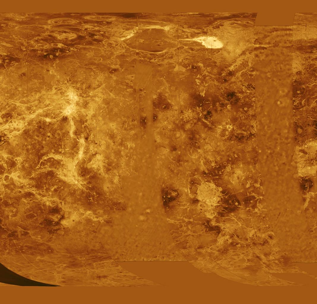 Space Images | Venus - Simple Cylindrical Map of Surface ... on terraformed moon map, earth as a map, earthsea map, mars elevation map, victoria as a map,
