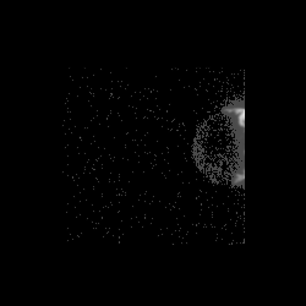 Within seconds of its closest approach to the asteroid 243 Ida on August 28, 1993, NASA's Galileo spacecraft's Solid State Imaging camera caught this glimpse of Ida's previously unknown moon orbiting the asteroid.