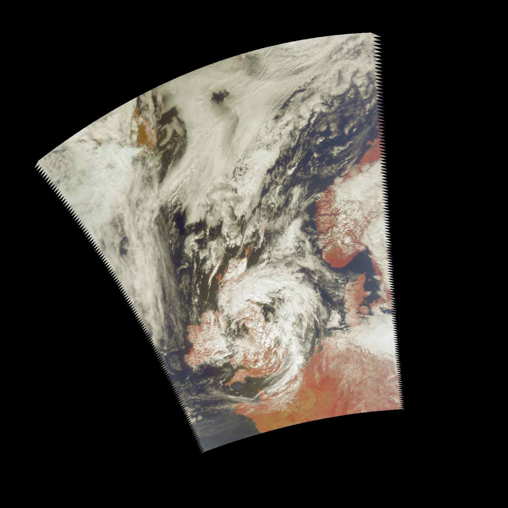 These images, taken over northern Europe on July 20, 2002, depict a few of the different views of Earth and its atmosphere that are produced by the Atmospheric Infrared Sounder experiment system operating on NASA's Aqua spacecraft.
