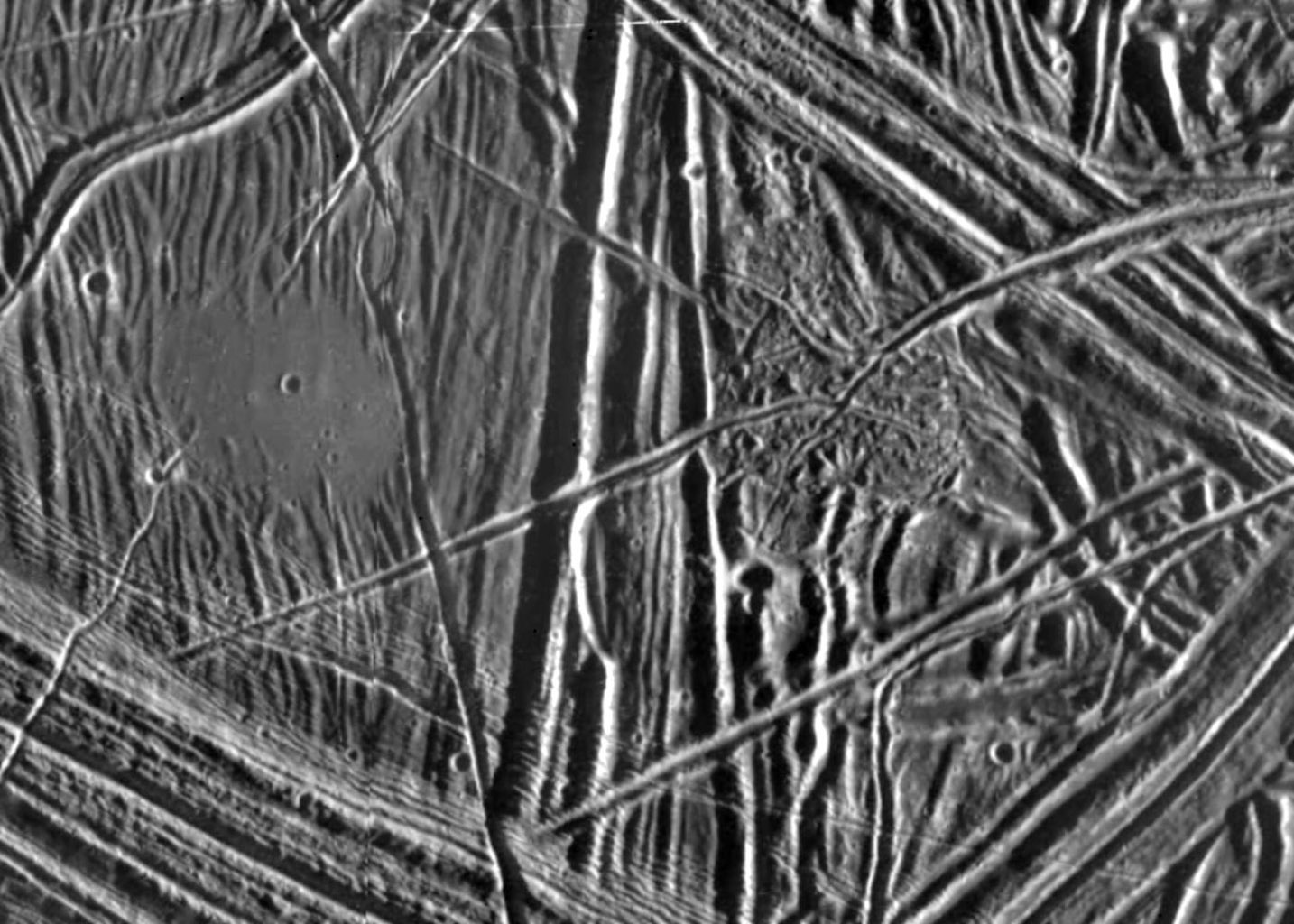 Space Images | Close-up of Europa's Surface