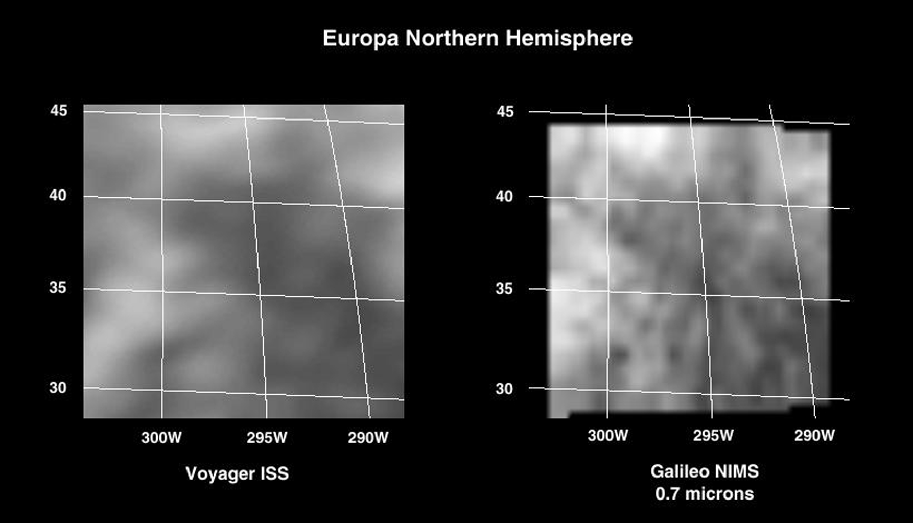 During the first targeted encounter of the icy satellite Europa, NASA's Galileo performed high resolution spectral mapping of the trailing side, a region thought to have minerals other than water ice.