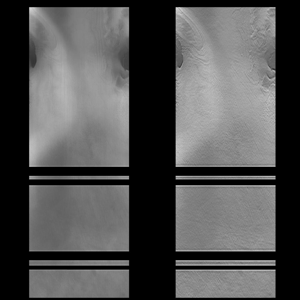 NASA's Mars Global Surveyor acquired this image on Dec. 24, 1997 of a small portion of the potential Mars Surveyor '98 landing zone.