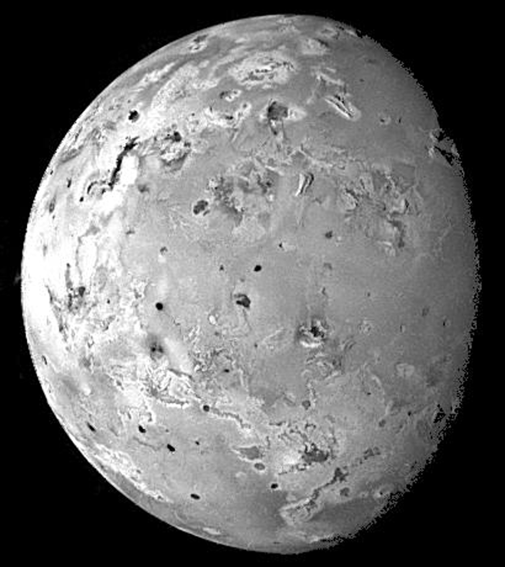 This image of Io was acquired by NASA's Galileo spacecraft during its ninth orbit (C9) of Jupiter as part of a sequence of images designed to cover Io at low illumination angles to map the landforms.