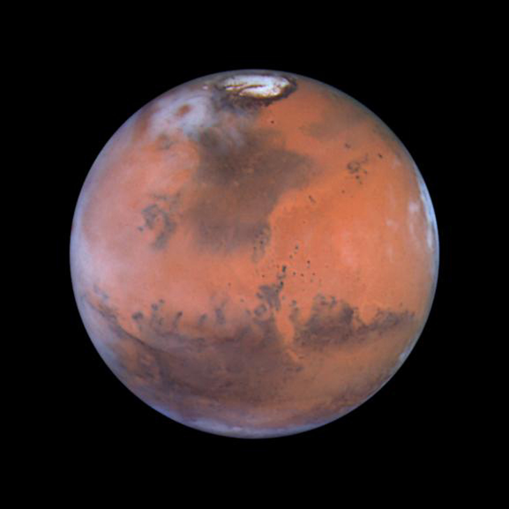 Taking advantage of Mars's closest approach to Earth in eight years, astronomers using NASA's Hubble Space Telescope have taken the space-based observatory's sharpest views yet of the Red Planet.